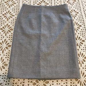 J. Crew 100% Wool Gray Pencil Skirt 4